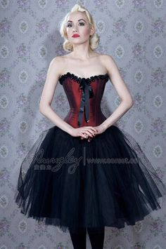Wine Red Satin Gothic Corset $53.50 I want this