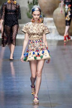 Spring 2013 Trend Report: Structured Skirting (Dolce & Gabbana)
