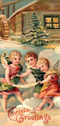 .Vintage Angels at Christmastime