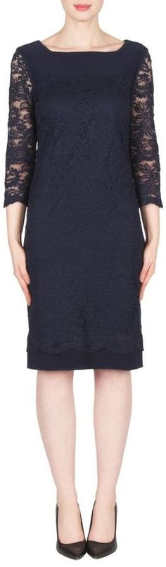 Joseph Ribkoff Navy Lace Dress