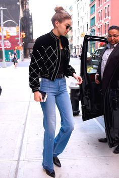See 130 of Gigi Hadid's best street style moments: Wide legged jeans