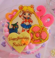 {B75FAB15-04C7-4B2E-BAAD-08711D5923E3:01} Bento Recipes, Dessert Recipes, Cooking Recipes, Desserts, Sailor Moon Party, Moon Food, Princess Peach, Nom Nom, Cakes