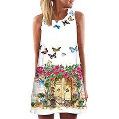 Oferta: 4.99€. Comprar Ofertas de Vestido Para Mujer, Oyedens Vintage Boho Mujer Verano sin mangas Beach Printed Mini vestido corto (L, D) barato. ¡Mira las ofertas!
