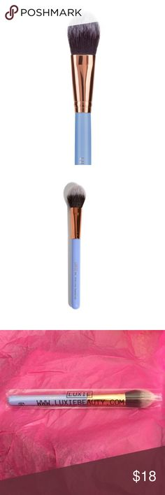 Luxie Dreamcatcher precision foundation brush Luxie Dreamcatcher precision foundation brush 660. So pretty in periwinkle! Perfect for foundation but great for multi-tasking too. Round semi-flat shape is super soft and luxurious. 100% vegan and cruelty free! NEW in packaging Luxie Makeup Brushes & Tools