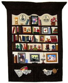 Bookcase Quilt- I want to try one of these so badly