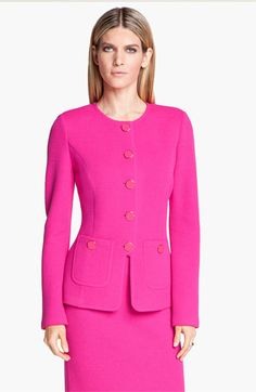 St. John Collection Fitted Mod Piqué Jacket available at #Nordstrom