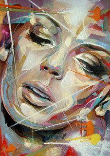 Paintings I've been doing of Urban Art and Street Art Forum with Print Release Gallery news and Art For Sale. Abstract Portrait, Portrait Art, Portraits, Art And Illustration, Tableau Pop Art, Street Art, Art Visage, Urbane Kunst, Atelier D Art