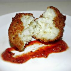 Italian Arancini (Rice Balls)  .....cheap meal with veggies. I used to get these at the fair. I would save all of my allowance for months before so I could eat nonstop.