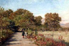 alberto valenzuela llanos - Buscar con Google Hispanic American, Country Roads, Fandom, Paintings, Google, Landscape Paintings, Bicycle Kick, 19th Century, Fine Art