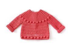 Chaqueta de Crochet Burbujitas para niña [ Tutorial y Patrón GRATIS ] Baby Cardigan Knitting Pattern, Crochet Cardigan, Baby Knitting, Baby Girl Crochet, Crochet For Kids, Diy Crochet, Crochet Designs, Crochet Patterns, Crochet Stitches Chart