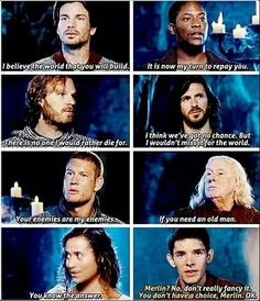 """I loved this part! They're all so honorable, then Merlin's just like, """"Nah, I'm good."""""""