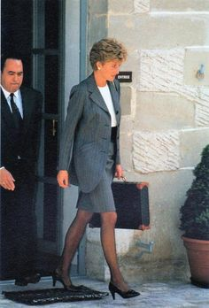 Princess Diana flew to Geneva for meetings with the Red Cross and Red Crescent societies as a member of their new advisory commission. She is seen leaving a meeting in Geneva on May 27, 1994.