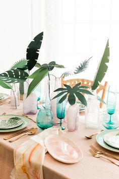 Paper plant tablescape