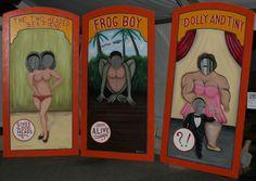 Risultati immagini per old circus photo cut out Haunted Carnival, Creepy Carnival, Fall Carnival, Diy Carnival, School Carnival, Carnival Themes, Circus Theme, Carnival Booths, Carnival Parties