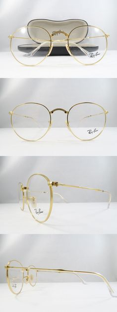 f9249a193301 Eyeglass Frames  Ray-Ban Rb 3532V 2500 Gold Clear Folding New Authentic  Eyeglasses 50Mm