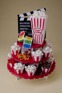 Movie Night feast Party in a Box Petite Round Cupcaketree Kit! 14th Birthday, Teen Birthday, Birthday Parties, Birthday Ideas, Cupcakes, Cupcake Cakes, Cupcake Ideas, Mini Cakes, Movie Night Party