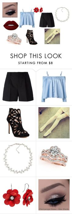 """Meeting my bandmate"" by deerodri on Polyvore featuring Yves Saint Laurent, Sandy Liang, Dream Girl, Carolee, Lime Crime and it"