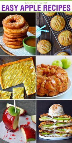 Quick and Easy Apple Recipes via justataste.com