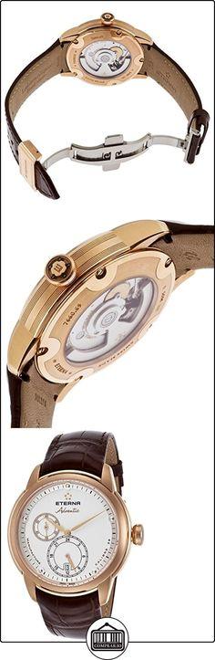 Eterna Adventic reloj automático, Eterna 3843, de piel de cocodrilo de la Alianza, blanco  ✿ Relojes para mujer - (Lujo) ✿
