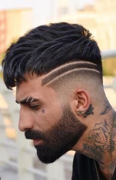Dope Fade Haircut for Men 2020 Trendy Mens Haircuts, Cool Hairstyles For Men, Cool Haircuts, Hairstyles Haircuts, Modern Haircuts, Medium Hairstyles, Wedding Hairstyles, Beard Haircut, Fade Haircut