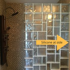 Whether you have a glass block shower wall with multiple sizes and patterns (like this one) or not there is a proper way to install get. Learn the right techniques by clicking through to this article.