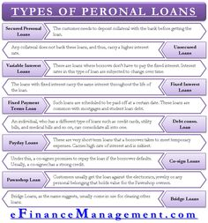 Many are ignorant on types of personal loans available. So, we will be discussing different types of personal loans available to a borrower. Learn Accounting, Accounting Basics, Accounting Student, Bookkeeping And Accounting, Bookkeeping Business, Accounting And Finance, Business Notes, Business Planner, Financial Tips