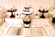 French-inspired Party Theme / Birthday Girl: real parties: pink & black baby shower