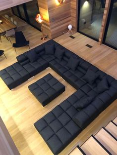 Living Room Wall Designs, Living Room Partition Design, Room Partition Designs, Living Room Sofa Design, Home Room Design, Living Room Modern, Home Spa Room, Corner Sofa Design, Large Sectional Sofa