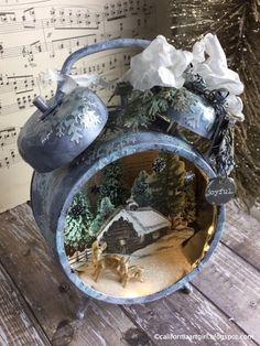 Richele Christensen: Holiday Assemblage Clock - Ranger Ink Guest Design...