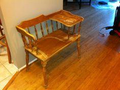 Antique telephone chair