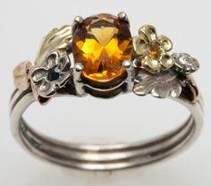 Yellow Topaz Engagement Ring. via Etsy.