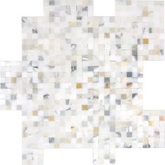 OMG LOVE these tiles for a floor~ elle decor library bathroom designed by will wick walls AKDO Calacatta Marble, Marble Mosaic, Stone Mosaic, Mosaic Tiles, Glass Tiles, Mosaics, Master Bath Tile, Bathroom Design Inspiration, Cool Rooms