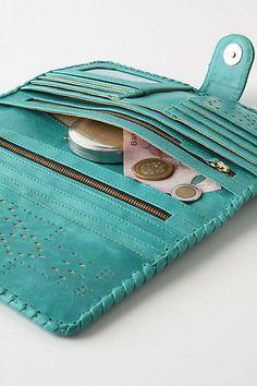 leather bound clutch wallet