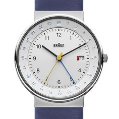 Braun BN0142 (white/blue) watch by Braun. Available at Dezeen Watch Store: www.dezeenwatchstore.com
