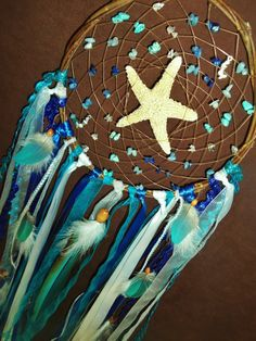 Dream Catcher- Dancing in the Ocean- Large Starfish/ Mermaid Dream Catcher- Made to Order