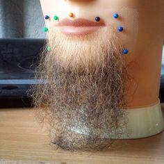 make one beard bearded wigmaker wigmaking kno+ Beard And Mustache Styles, Beard No Mustache, Beard Styles, Beard Wig, Lace Front Wigs, Lace Wigs, Pennywise Wig, Diy Wig, Special Effects
