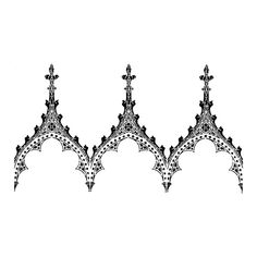 Gothic Arch Stencil Background Border ($47) ❤ liked on Polyvore
