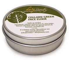 #collard green face cream #dirtybeauty