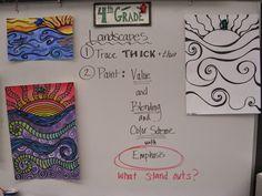 Jamestown Elementary Art Blog: 4th Grade Landscapes