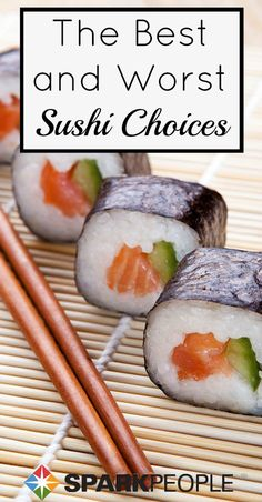 How to order light and healthy sushi rolls: What to look for and what to avoid! | via @SparkPeople #food #diet #nutrition