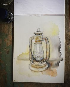 #watercolor #sketchbook #ink #painting #drawing #oillamps #illustration Watercolor Sketchbook, Watercolor Art, Good Saturday, Ink Painting, Oil Lamps, My Love, Drawings, Paper, Illustration