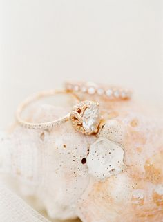 Unique vintage style engagement ring {Photo by KT Merry via Project Wedding}