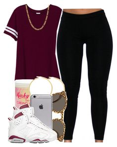 """Nicki Minaj Too Real For Me"" by babygirlslayy ❤ liked on Polyvore featuring Victoria's Secret PINK, Kinky-Curly, Illesteva and Fremada"