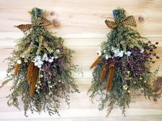 Beautiful dried flower swags.: