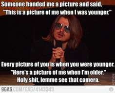 Mitch Hedberg Comedic Quote - I never thought of that before...too funny. My favorite bit of Hedberg's was the one where he talks about escalators and how when they are never really broken for they only become stairs.