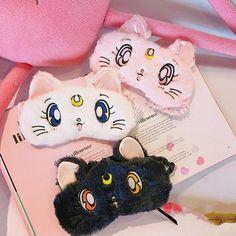 Pink/white/navy blue cute kawaii cartoon moon sleep eye mask SE10262