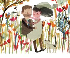 Yasmeen Ismail's hand painted wedding invite is just about the loveliest thing I've ever seen.