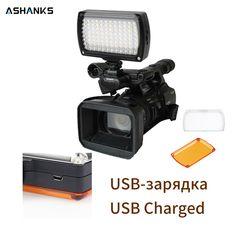 ASHANKS LED Video Light on Camera Photo Lighting Bulbs Hotshoe LED Lamp Light for Camcorder DSLR Wedding Photographic Lighting