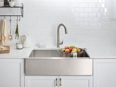 "Kohler Strive K-5415-NA Self-Trimming 35-1/2"" x 21-1/4"" x 9-5/16"" Under-Mount Large Single-Bowl Kitchen Sink With Tall Apron – Showroom Sinks"