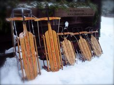 Old Fashioned Sleds - I think my brother still has mine - and that was a hand-me-down from even older cousins!